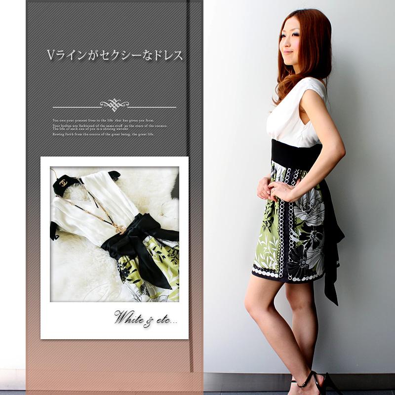 セレブ/ワンピース/結婚式/二次会/ドレス/ノースリーブ